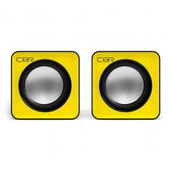 Актив.колонки 2.0 CBR CMS-90 1,5Вт, питание от USB, пластик, Желтый