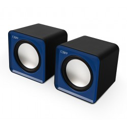 Актив.колонки 2.0 CBR CMS-90 1,5Вт, питание от USB, пластик, Blue