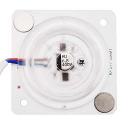 Плата светодиодная 220В, 12Вт, SMD2835, 80Лм/Вт, 6500K, 63*63мм, арт 02-14