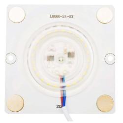 Плата светодиодная 220В, 12Вт, SMD2835, 80Лм/Вт, 2700K, 80*80мм, арт 02-18