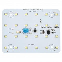 Плата светодиодная 220 В, 7Вт, SMD2835, 600Лм, 100*76мм, арт. 02-11