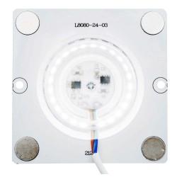 Плата светодиодная 220В, 12Вт, SMD2835, 80Лм/Вт, 6500K, 80*80мм, арт 02-20