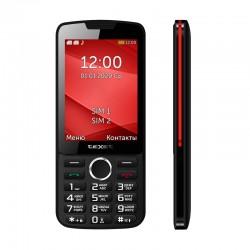 """Сотовый телефон Texet TM-308 Black-Red (2sim/3.2""""/320*240/32Mb/microSD/Bt/1200мАч)"""