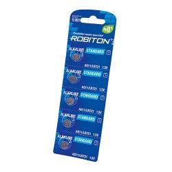 Батарейка G11 361A Robiton упак 5 шт/1.5в