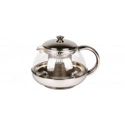 Заварник (чайник) Bekker BK-398 DeLuxe 0.75л,нерж.сталь+жаропрочное стекло