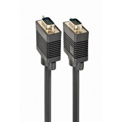 Кабель соединительный VGA(m) - VGA(m) 15м Gembird, черный (CC-PPVGA-15M)