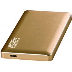 """Внешний бокс для HDD 2.5"""" USB 3.0 AgeStar 3UB2A16C  алюминий Gold"""