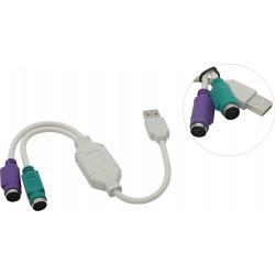 Адаптер USB (M)=>2xPS/2 (F)