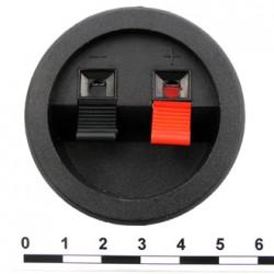 Клеммник акустический 2 контакта круглый /диаметр 49мм/