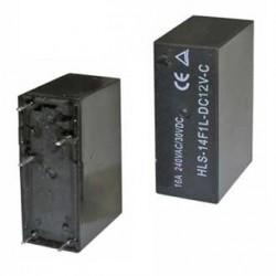 Реле электромагнитное DC 12в, 10а, SPDT, 24.6*12.6*29мм, Ruichi 14F1L-DC12V-C (JQX-14F1)
