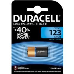 Батарейка CR123 DURACELL HIGH POWER LITHIUM 1 шт./3В. литиевая