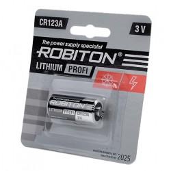 Батарейка CR123A ROBITON 1 шт./3В. литиевая