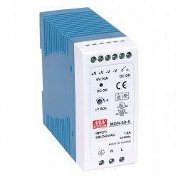 Блок питания Mean Well MDR-60-5/5в, 10А, DIN-рейка