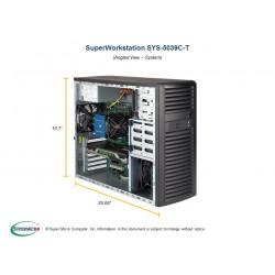 Supermicro SuperWorkstation Mid-Tower 5039C-T CPU(1) E-22**/ noHS/ no memory(4)/ on board RAID 0/1/5/10/ internalHDD(4)LFF/ 2xGE/ 4xFH, 2xM.2/ 1x500W Gold/ no Backplane