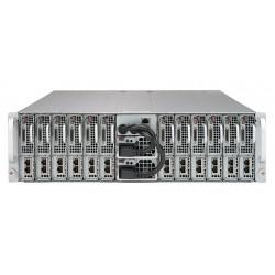 Supermicro MicroCloud 3U 5039MC-H8TRF 8xNodes per node: 1xXeon E-22**/ no memory(4)/2x 3.5 or 2x 2.5 HDD/SSD/ 2xGE/ 2x2000W