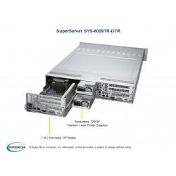 Supermicro SuperServer 2U 6029TR-DTR 2xNodes noCPU(4)Scalable/TDP 70-140W/ no DIMM(16)/ SATARAID HDD(12)LFF/ 4xGE/ 2x1200W