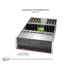 Supermicro SuperServer 4U 4029GP-TRT3 noCPU(2)Scalable/TDP 70-205W/ no DIMM(24)/ SATARAID HDD(24)SFF/ 2x10GbE/ support up to 9 double width GPU/ 4x2000W
