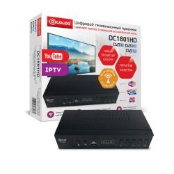 Цифровая приставка DVB-T2 D-Color DC1801HD HDMI 1080p/RCA/TimeShift/ТВгид/запись/дисплей