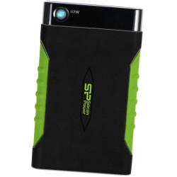 """Внешний жесткий диск SILICON POWER SP010TBPHDA15S3K черный-зеленый Armor A15 (USB3.0,2.5"""",1TB)"""