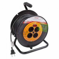 Удлинитель сетевой Rexant 4х220в (50м) катушка, выключатель/10А