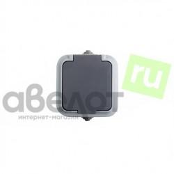 Розетка электрическая штепсельная REXANT влагозащищенная открытой установки 10 А IP54 з/к