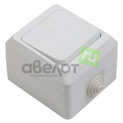 Выключатель одноклавишный влагозащищенный открытой установки 10 А IP44 PROCONNECT