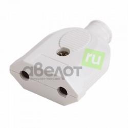 Вилка электрическая Proconnect 11-8534/10A без з/к переносная, белая