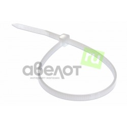 Стяжка кабельная REXANT 300х3,6 белая/100шт.