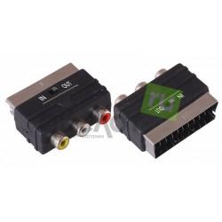 Переходник шт.SCART- 3гн.RCA + переключатель
