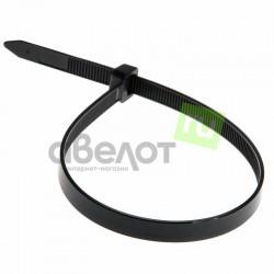 Стяжка кабельная REXANT 250х7,6 черная/100шт.