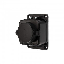 Розетка электрическая штепсельная REXANT влагозащищенная 16А, з/к,  IP54  каучук