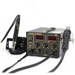 Паяльная станция YIHUA 968DA+, паяльник 200..480°С, фен компрессорный 100..480°С, 720вт