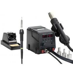 Паяльная станция ZD-8922, паяльник 50..480°С, 60вт, фен компрессорный 100..500°С, 300вт