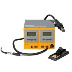 Паяльная станция ZD-982, паяльник 160..480°С, 60вт, фен компрессорный 160..480°С, 320вт