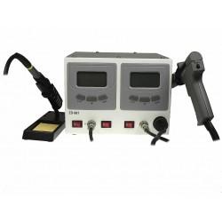 Паяльная станция ZD-987, 2 паяльника 160..480°С, оловоотсос 160..480°С, 220вт