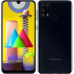 "Смартфон Samsung Galaxy M31 SM-M315F Черный 2sim/6.4""/2340*1080/4х2.3ГГц+4*1.7/6Gb/128Gb/mSD/64+8+5М"