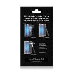 Защитное стекло для iPhone 7/8 DF iColor-11 3D с цветной рамкой (fullscreen+ fullglue) Black