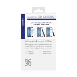 Защитное стекло для Samsung Galaxy A20/A30/A50/A30s/A50s с цветной рамкой (fullscreen+fullglue) DF sColor-65 (black)
