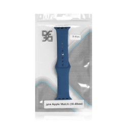 Ремешок классический силиконовый для Apple Watch (38-40мм) DF iClassicband-01 (blue)