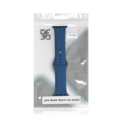 Ремешок классический силиконовый для Apple Watch (42-44мм) DF iClassicband-02 (blue)