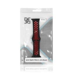 Ремешок спортивный силиконовый для Apple Watch (38-40мм) DF iSportband-01 (black/red)