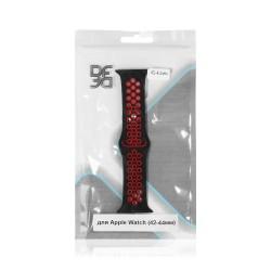 Ремешок спортивный силиконовый для Apple Watch (42-44мм) DF iSportband-02 (black/red)