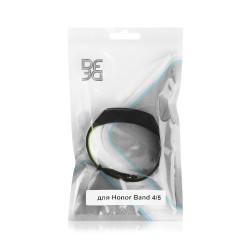 Ремешок спортивный силиконовый для Honor Band 4/5 DF hwSportband-01 (black/green)