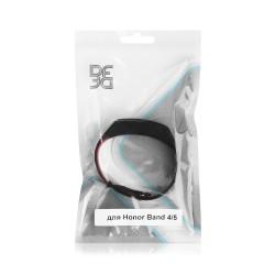 Ремешок спортивный силиконовый для Honor Band 4/5 DF hwSportband-01 (black/red)