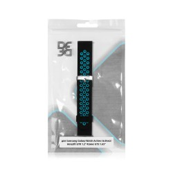 """Ремешок спортивный силиконовый для Samsung Galaxy Watch Active/Active2/Amazfit GTR 1.2"""" 42мм DF sSportband-01 (black/blue)"""