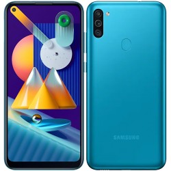 "Смартфон Samsung Galaxy M11 SM-M115F Бирюзовый 2sim/6.4""/1560*720/8х1.8ГГц/3Gb/32Gb/mSD/13+2+5Мп/NFC/And10/5000mAh"