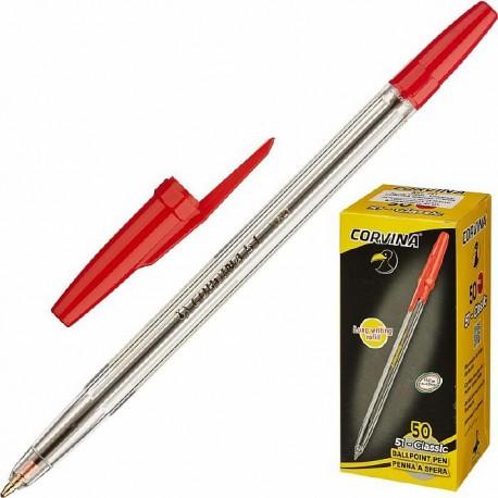 Ручка шариковая Cоrvina 51 красная 1мм (40163/03)