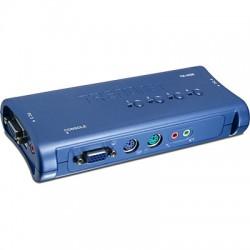 Переключатель KVM TRENDnet TK-408K 2 порта SVGA,PS/2 + audio