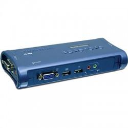 Переключатель KVM TRENDnet TK-409K 2 порта SVGA,USB + audio