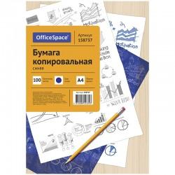 Бумага копировальная OfficeSpace А4 100л. синий (CP 339/158737)